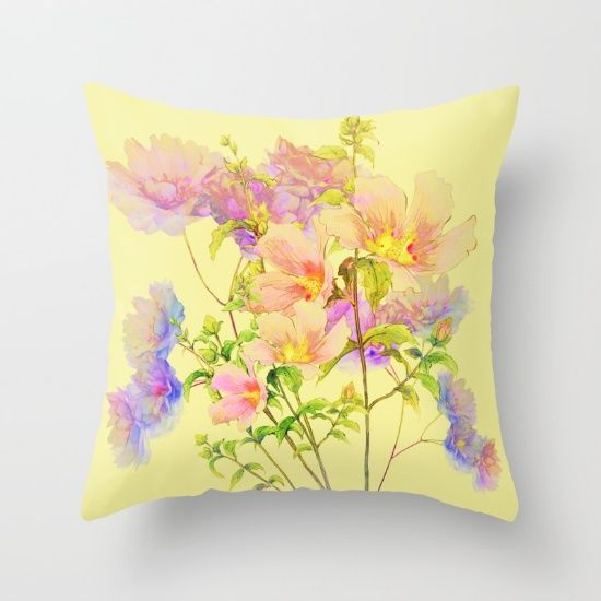 soft pastel floral Throw Pillow 10% off and free shipping!!!                                                                                                                                                                                 More