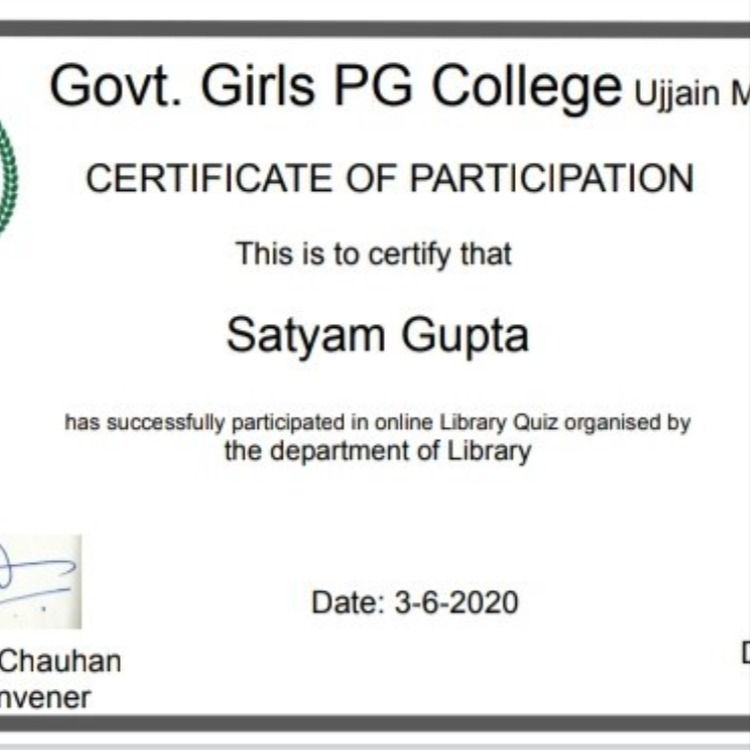 Satyam Gupta Assistant Librarian Dept Of Central Library Of Kanpur Institute Of Technology Has Completed W In 2020 Assistant Librarian Online Library Central Library