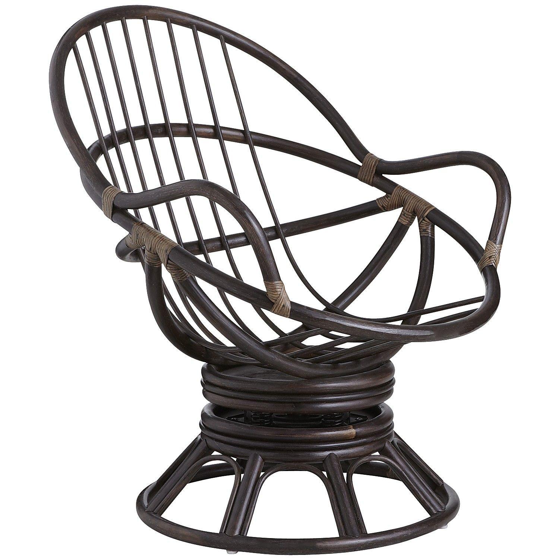 Papasan Swivel Rocking Chair Frame   Brown