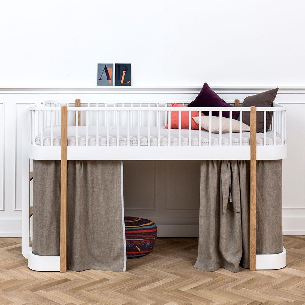 Kids low loft bed  CHILDRENuS LUXURY LOW LOFT BED in White u Oak  ma puce  Pinterest