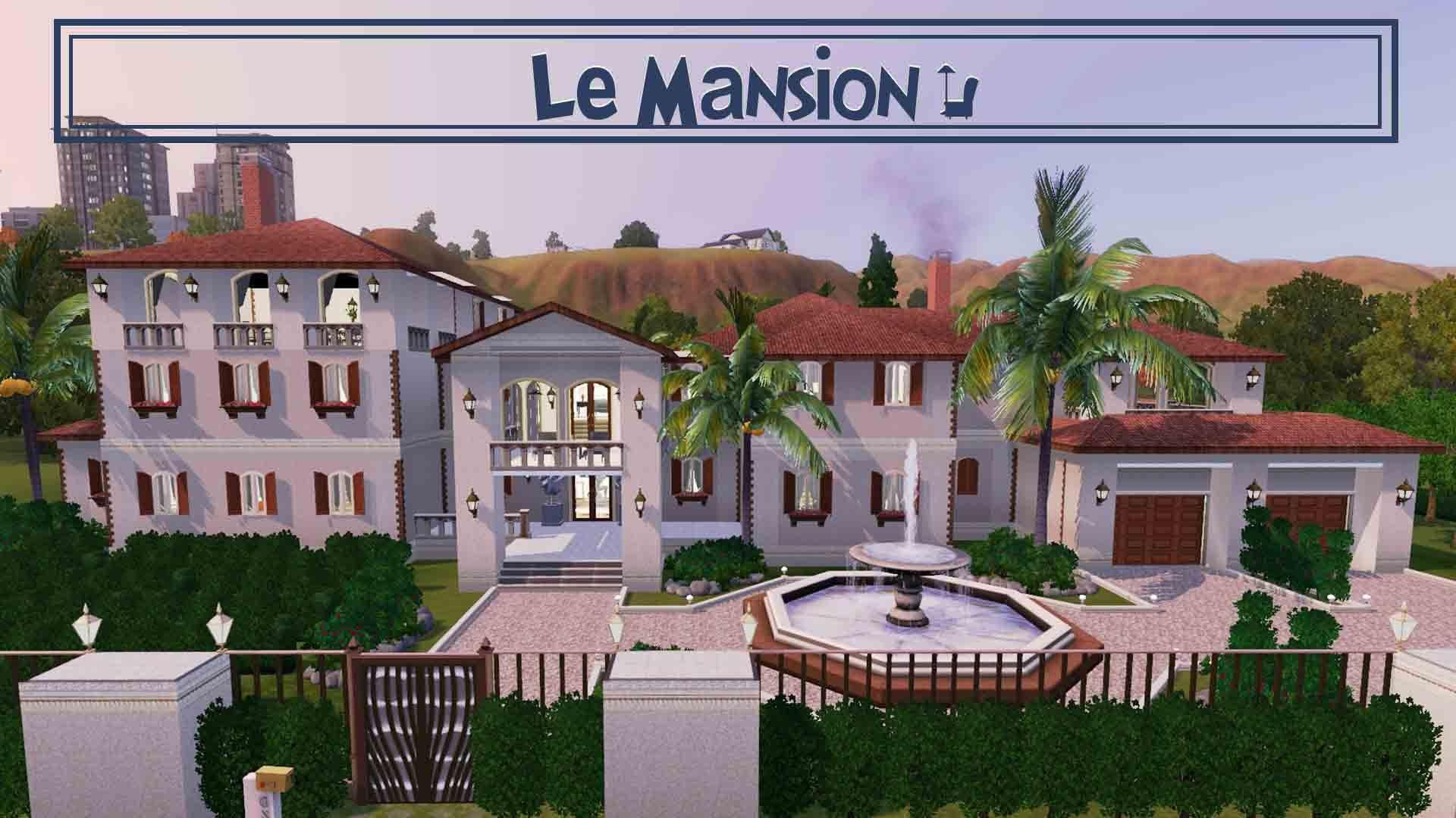 "The Sims 3 House Building ""Lé Mansion"""