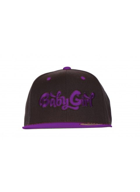 "Baby Girl Snapback Cap ""Purple Baby Girl Patch Black/Purple"" *Need this"