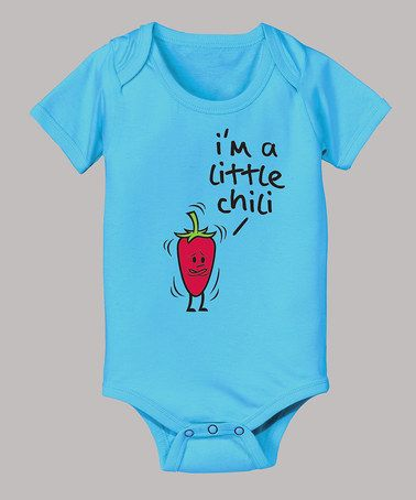 cf72293f42ae Turquoise  I m a Little Chili  Bodysuit - Infant by Food Fight ...