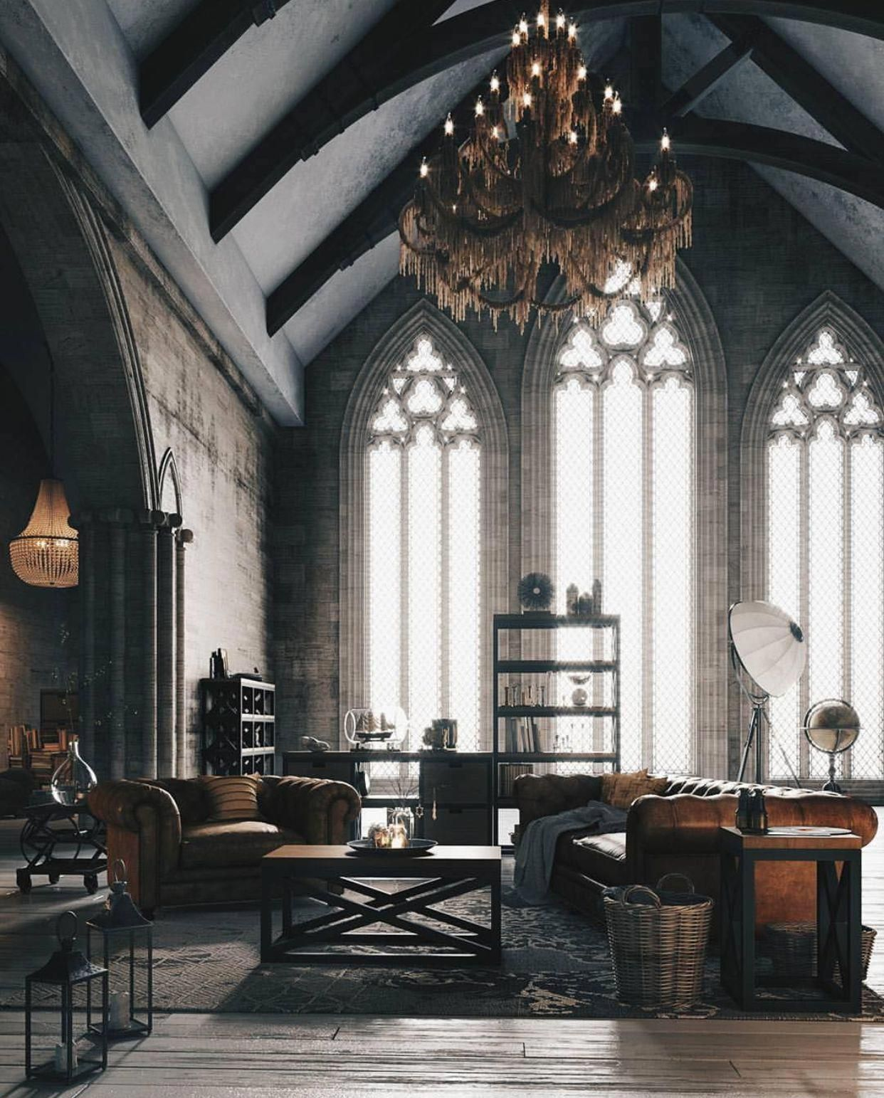 Modern Gothic Luxurylivingroom Gothic House Loft Style