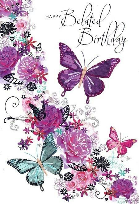 Happy Belated Birthday Butterfly Happy Birthday Greetings Happy Birthday Wishes Butterfly