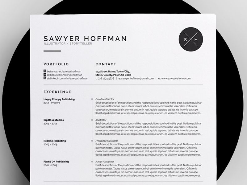 Another Great Resume Layout  Sawyer By Bill Mawhinney For More