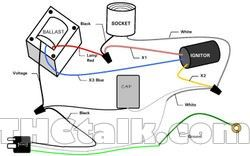 From Thctalk Com A Diagram That Shows The Relationship Of A Magnetic Ballast Capacitor And Ignitor Ballast Electric Lighter Capacitors
