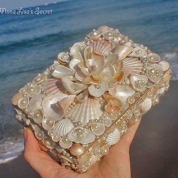 Shop Seashell Box on Wanelo Sea Shell Jewelry box Pinterest