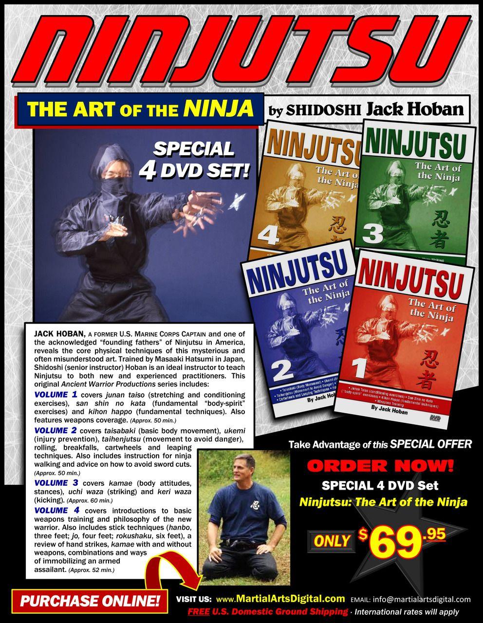 Ninjutsu special 4 dvd set Martial arts, Martial arts