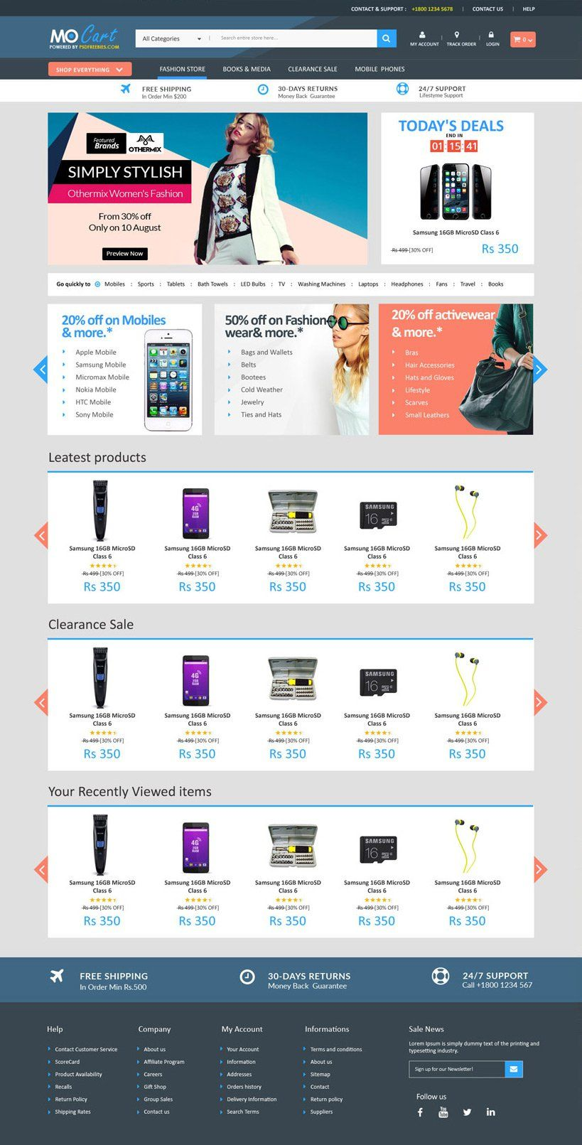 free ecommerce web templates psd free web page template psd