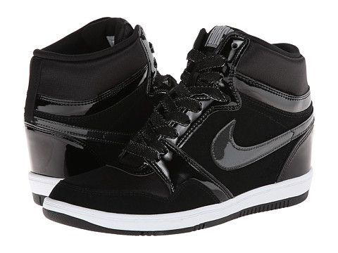 buy popular 8a071 40b7b Nike Force Sky High Sneaker Wedge Black Black White Anthracite - Zappos.com  Free Shipping BOTH Ways