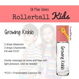 Growing, Rollerball blends for kids, essential oils