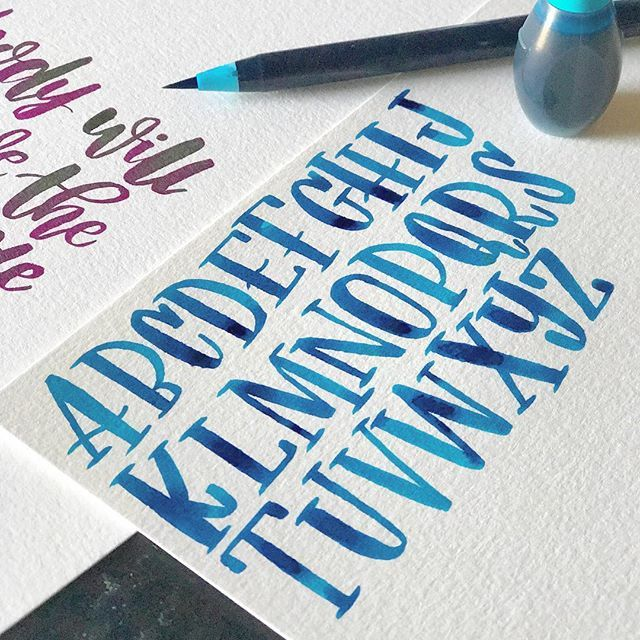 Letters Watercolor Lettering Lettering Alphabet Watercolor