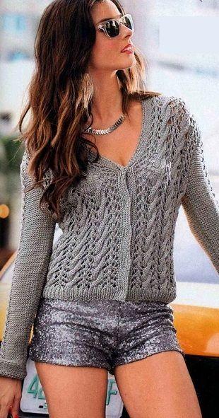 короткий жакет спицами вязаниеknitting For Women 1 Cardigans