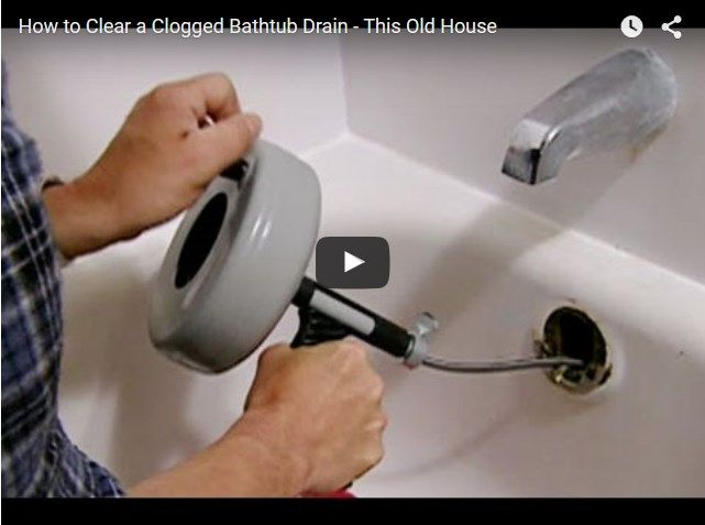 How To Unclog A Bathtub Drain With Standing Water Clogged Bathtub Clogged Drain Bathtub