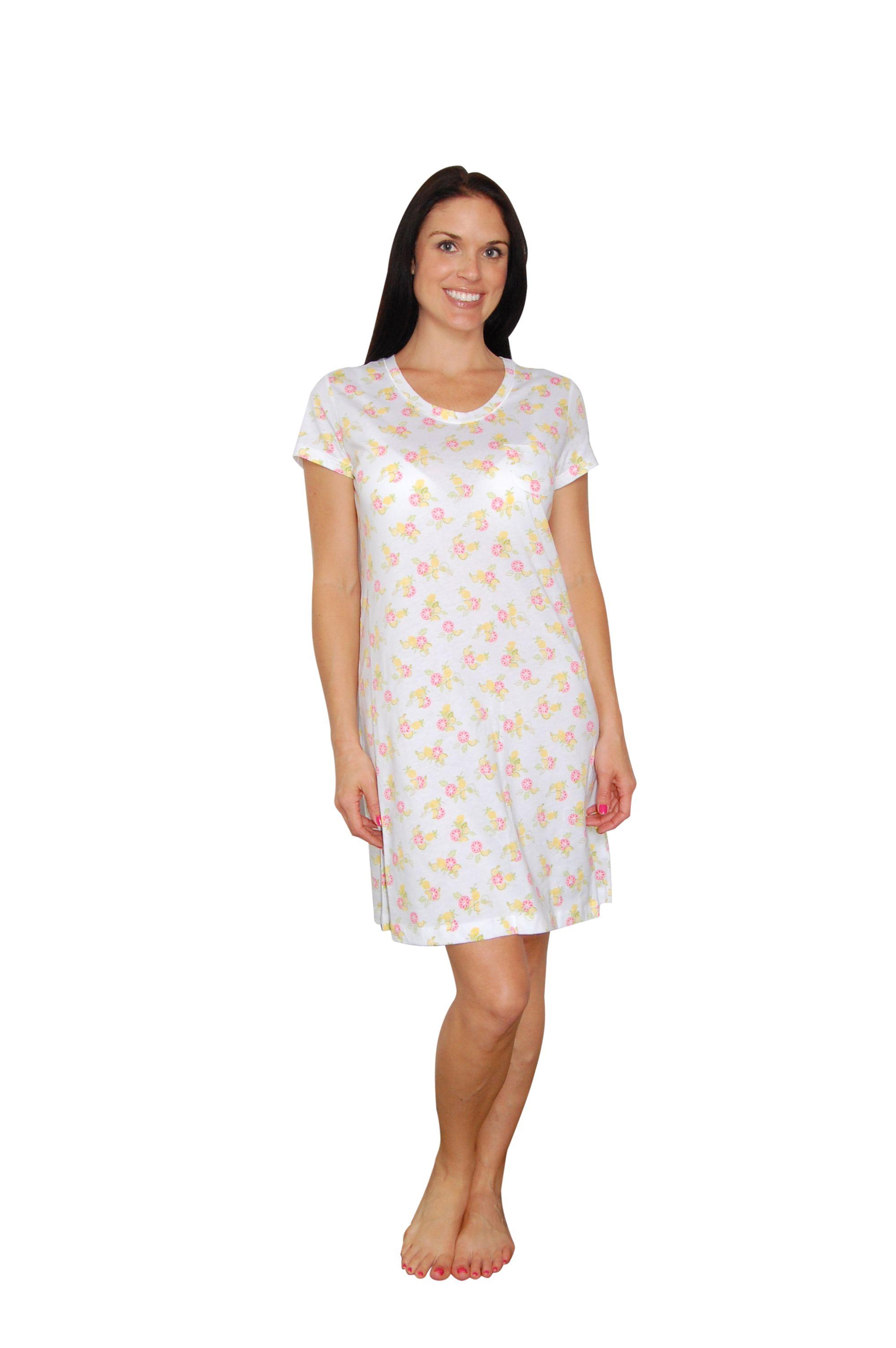 "Carole Hochman Fresh Citrus White 36"" Sleepshirt"