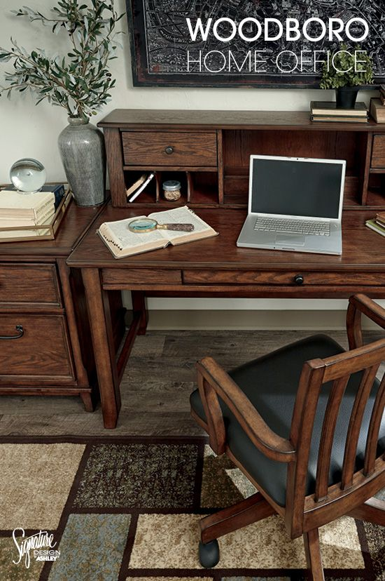 Despite Its Relatively Modest Scale The Woodboro Home Office Desk Is Packed With Potential The Simple Parsons Sty Home Office Furniture Furniture Home Office