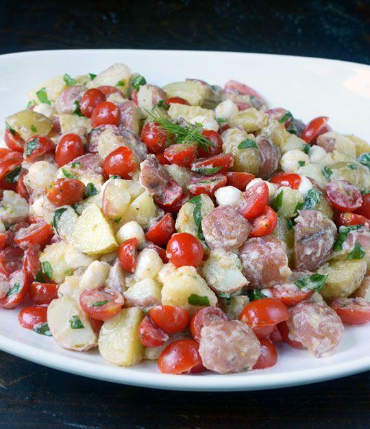 tomato and mozzarella potato salad