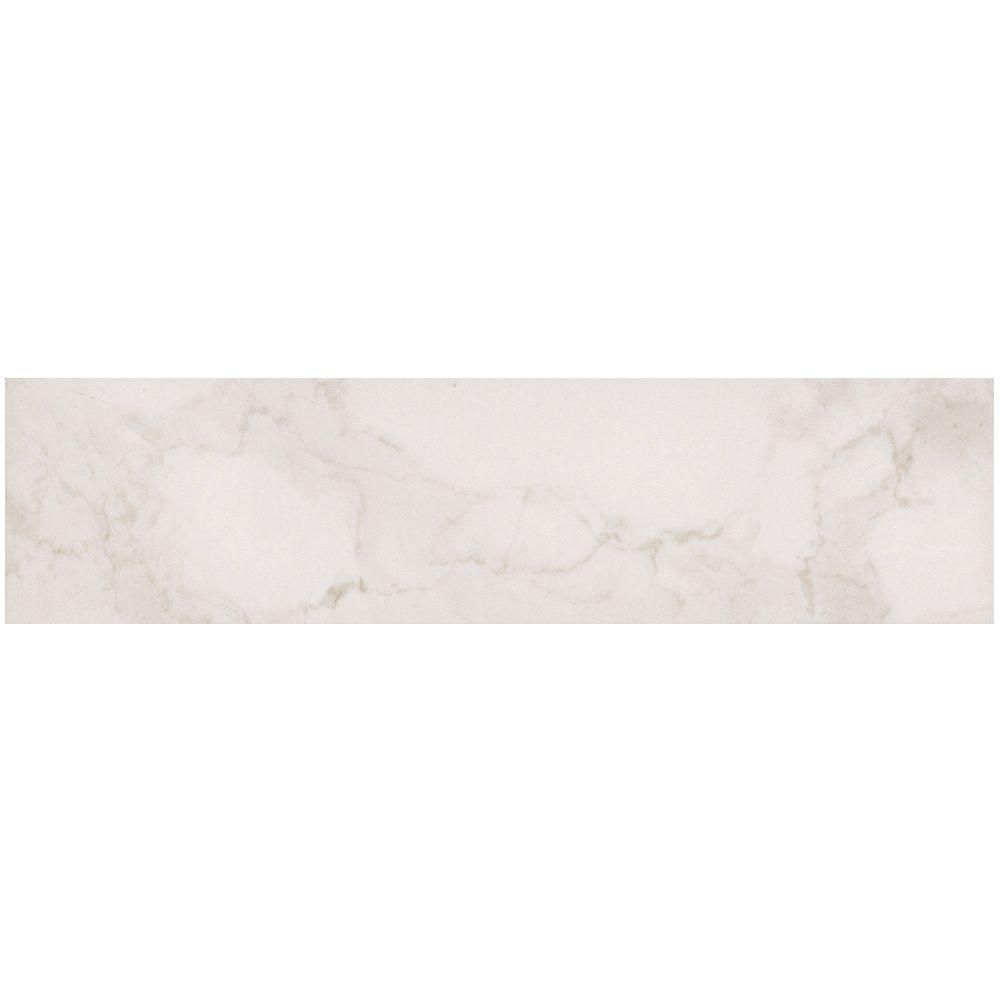 MARAZZI VitaElegante Bianco 6 in. x 24 in. Porcelain Floor and Wall ...