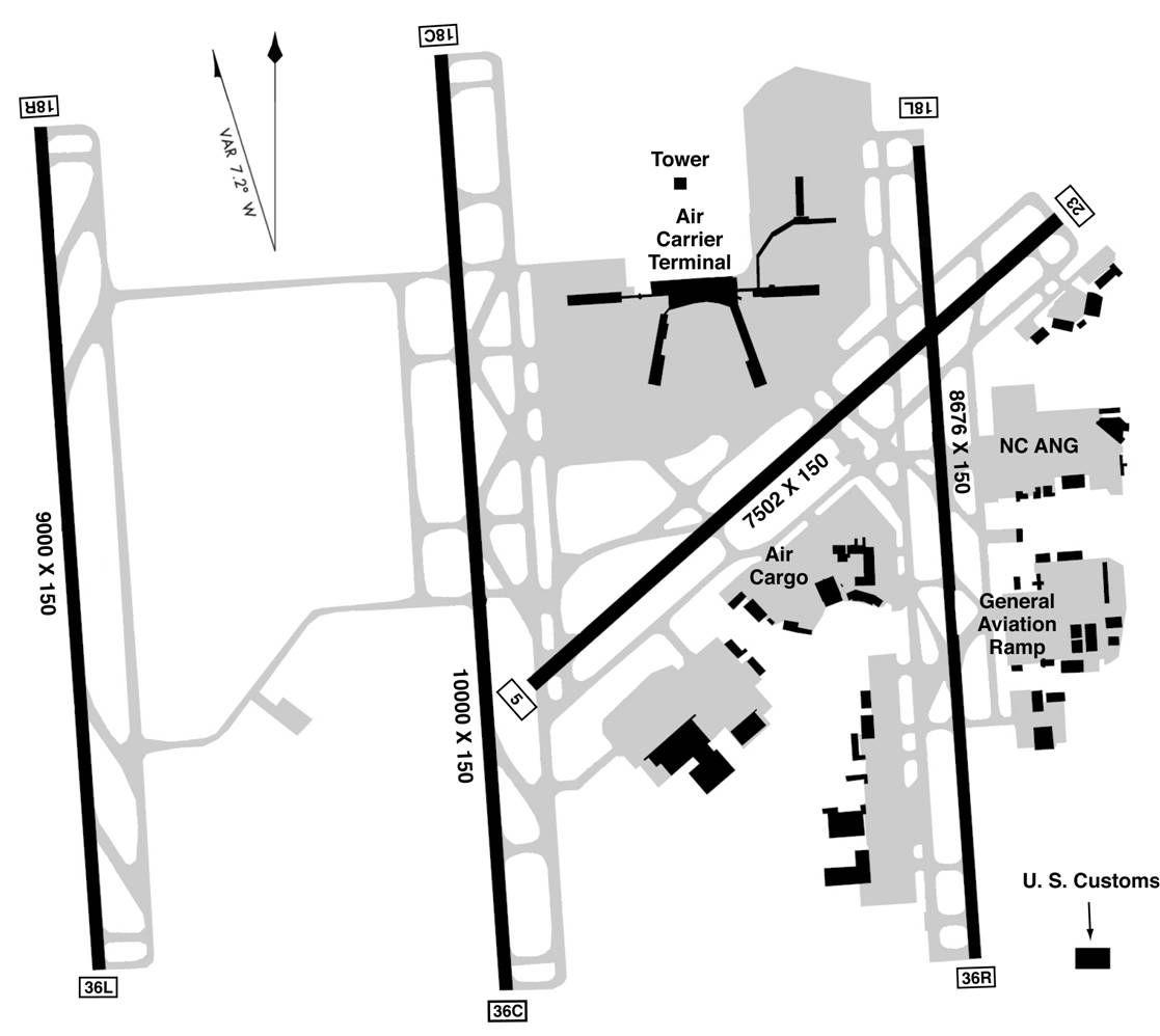 CharlotteDouglas International Airport Map airports Pinterest