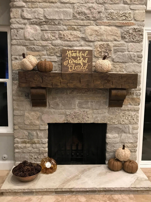 20+ Long fireplace mantel ideas in 20   LivingRoomReference