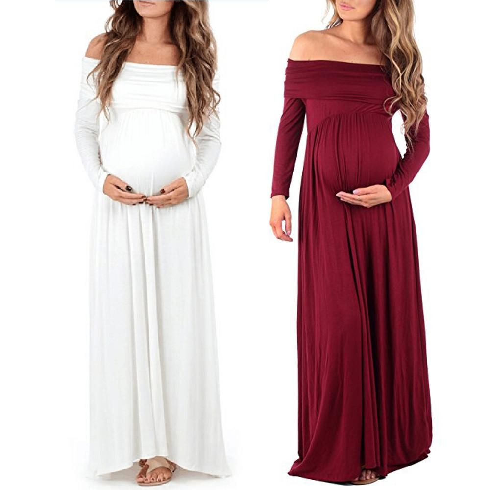5f59a43247 Luxury Off Shoulder Maternity Dress