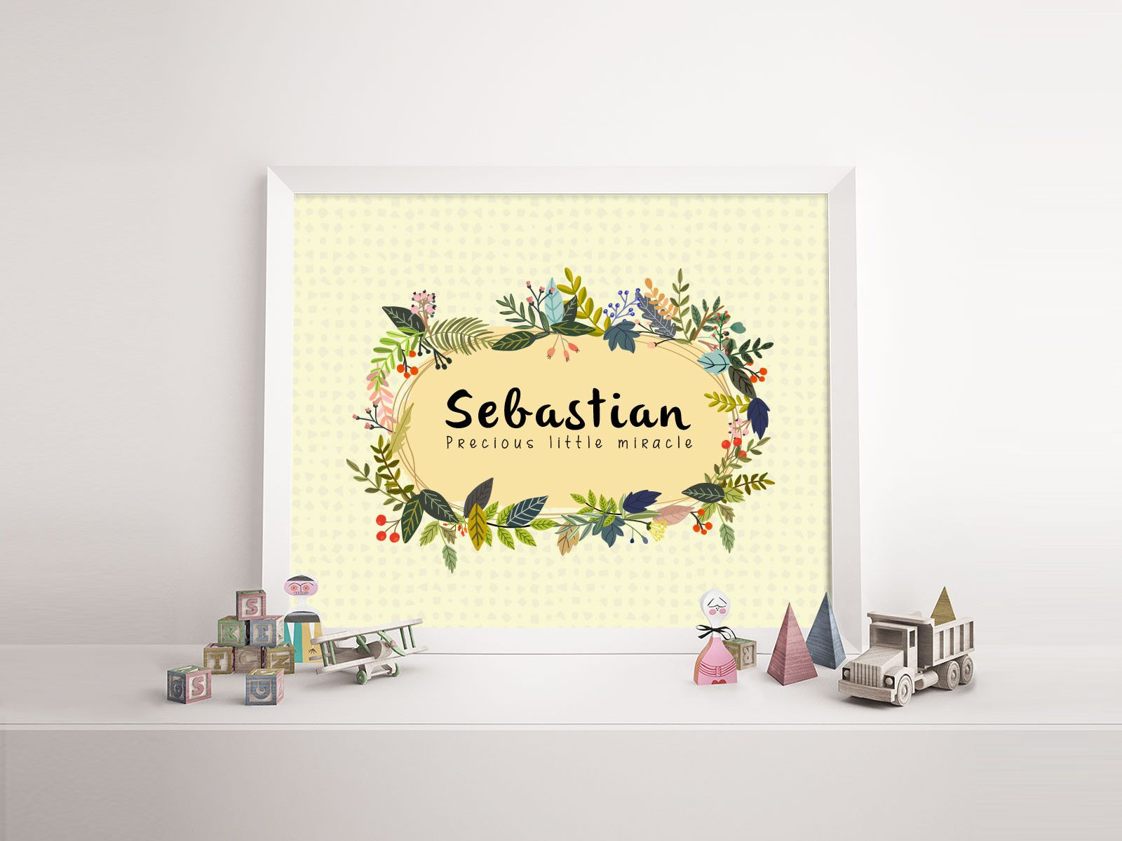 Baby name print \'Sebastian\' - nursery poster print wall art ...