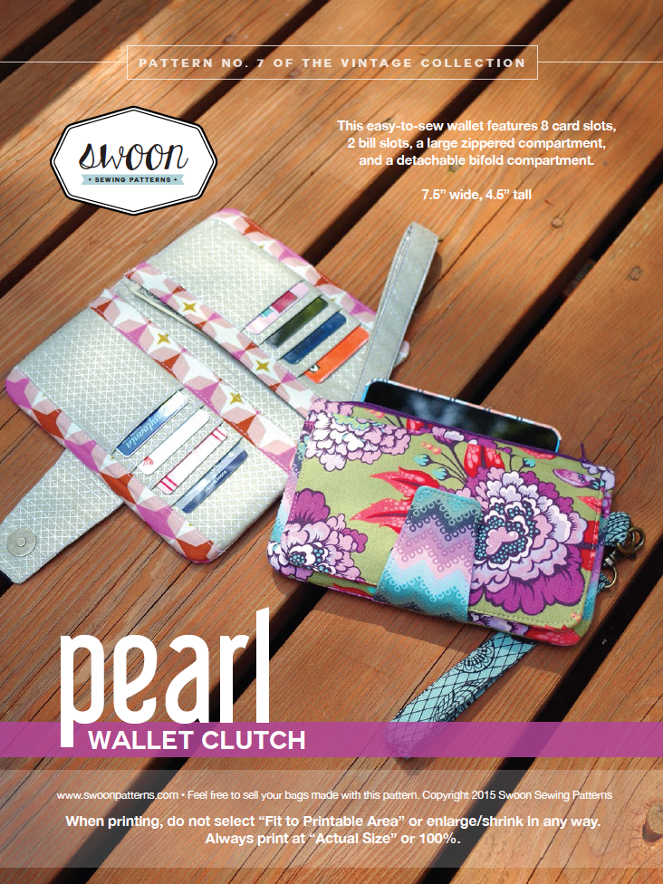 Fabric... Pearl Wallet Clutch by Swoon Sewing Patterns | Sewing ...