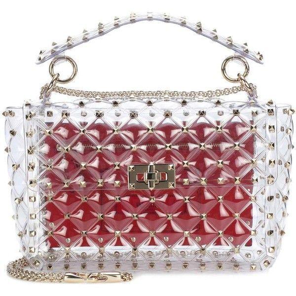 83025c3997 Valentino Valentino Garavani Rockstud Spike Transparent Shoulder Bag  (€1.775) ❤ liked on Polyvore