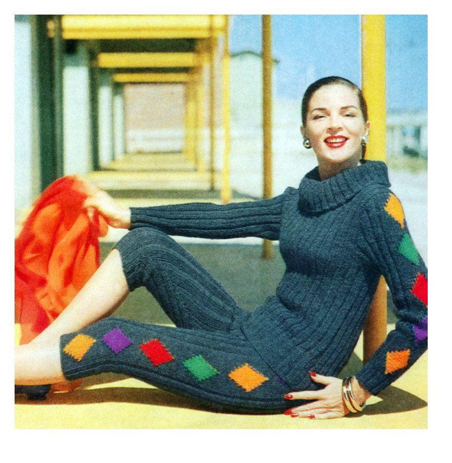 Vintage vogue knitting pattern hostess pant sweater set 1950s vintage vogue knitting pattern hostess pant sweater set 1950s digital download pdf by 2ndlookvintage on etsy bankloansurffo Choice Image