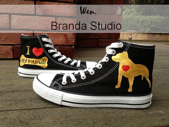 dcb0426a9c204 Pitbull Shoes Pitbull Design Studio Hand Painted by Brandastudio ...