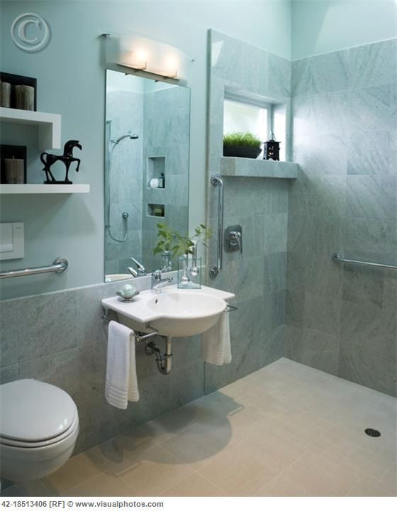 A Bathroom For Fred With Cool Blue Tile New Home Ideas In - Fred's floor tile