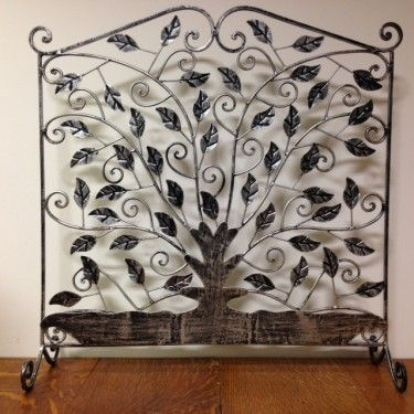 beautiful decorative fire place screen perfect for shabby chic rh in pinterest com