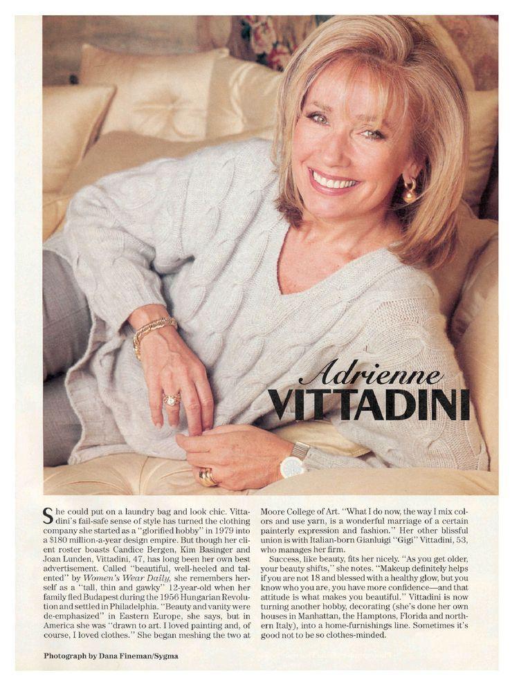 Adrienne Vittadini '66 Internationally acclaimed fashion ...