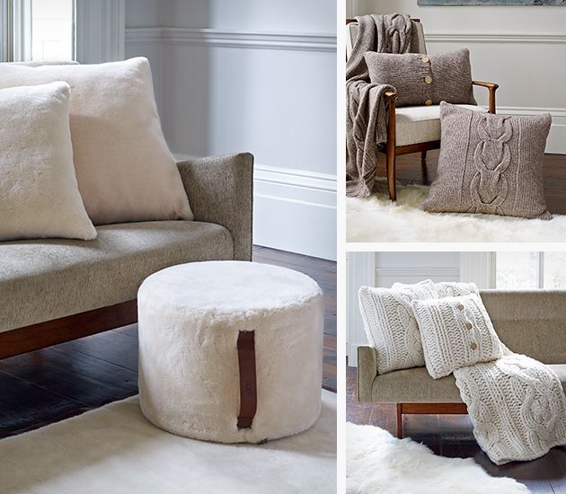 Good news for all fans of ugg australia in addition to comfortable shoes the brand now comes up with soft fabrics for your home the ugg home collection
