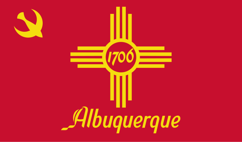 Flag Of Albuquerque New Mexico Flags Of Cities Of The United States Wikipedia The Free Encyclopedia Albuquerque News New Mexico New Mexico Flag