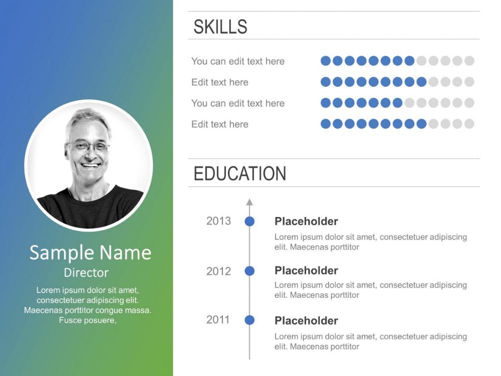 Employee Resume Powerpoint 7 In 2020 Powerpoint Templates Powerpoint Slide Templates Presentation Slides Templates