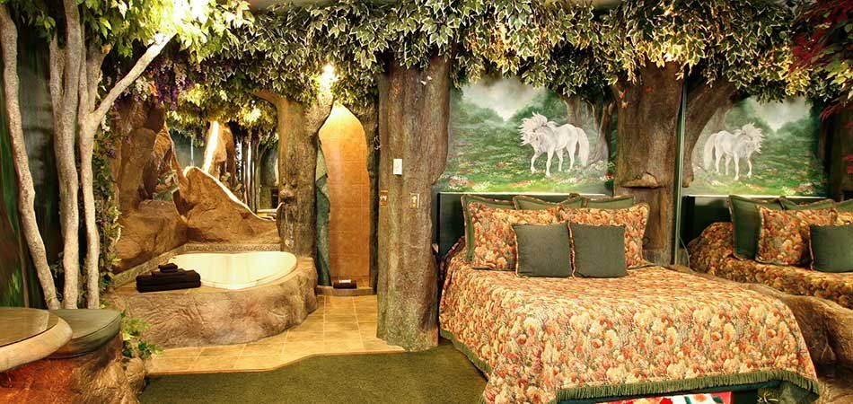 enchanting romance romantic bedroom ideas | Enchanted Forest Suite at Black Swan Inn in Pocatello, ID ...