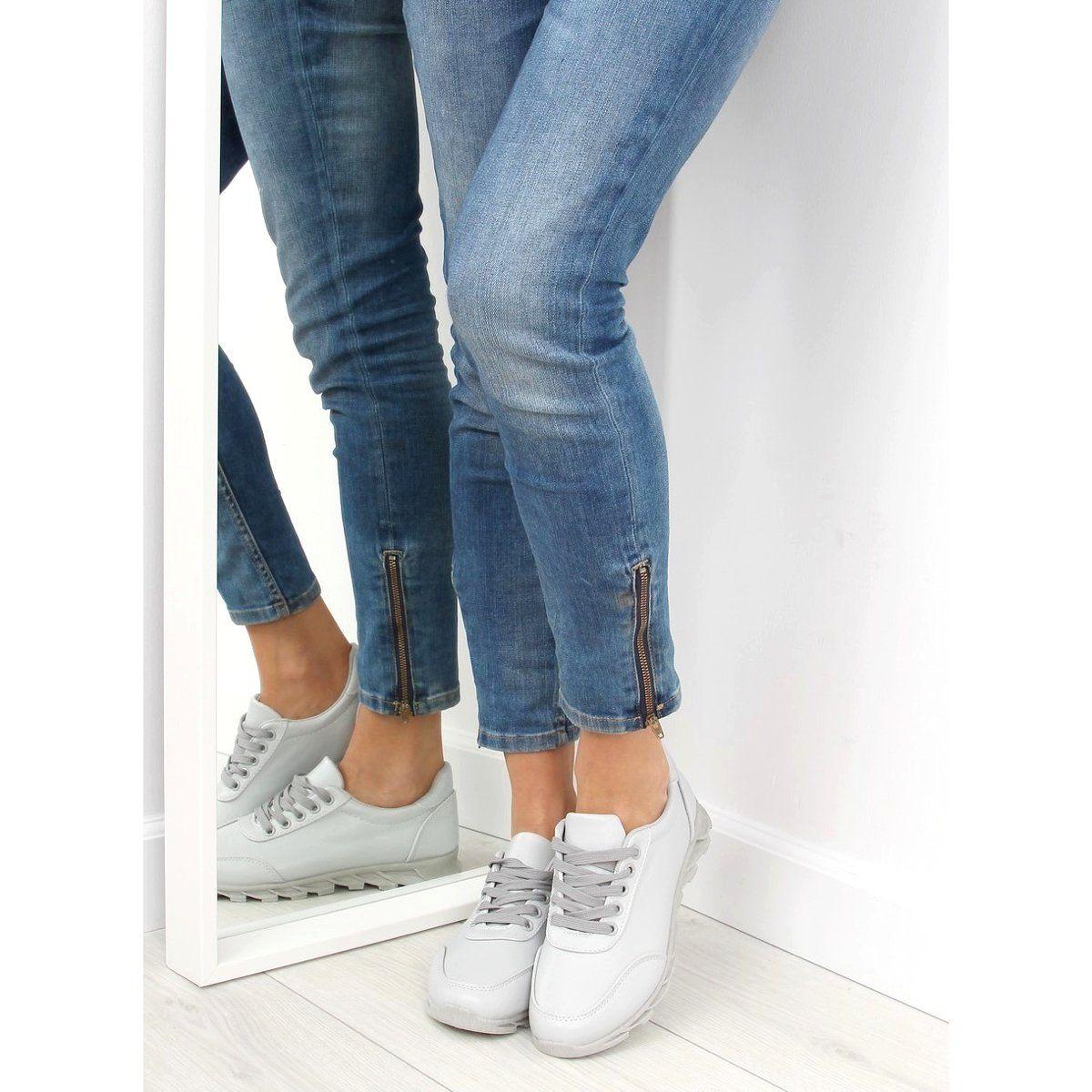 Buty Sportowe Damskie Szare Nb205p Grey White Sneakers Women Womens Sneakers Sneakers White