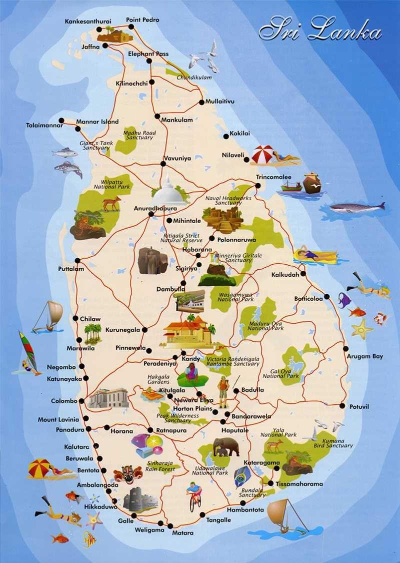Sri Lanka Cerca Con Google Carte Touristique Sri Lanka Carte