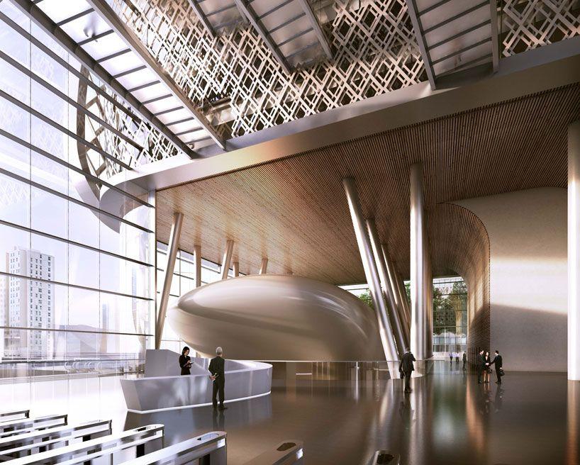 Ziraat Bank Headquarters In Istanbul By Kohn Pedersen Fox Architecture Design Concept Kpf Architecture Interior Design Furniture