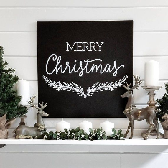 Merry Christmas Sign, Christmas Signs, Christmas Decorations, Christmas Wood Sign, Christmas Wall De