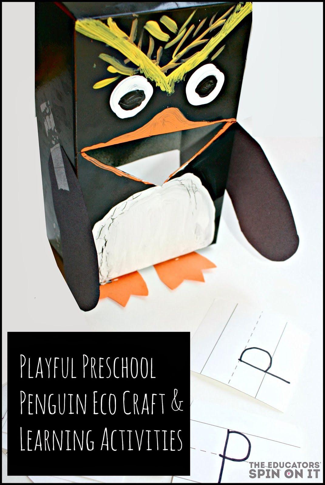 Preschool Penguin Learning Activities And Eco Craft