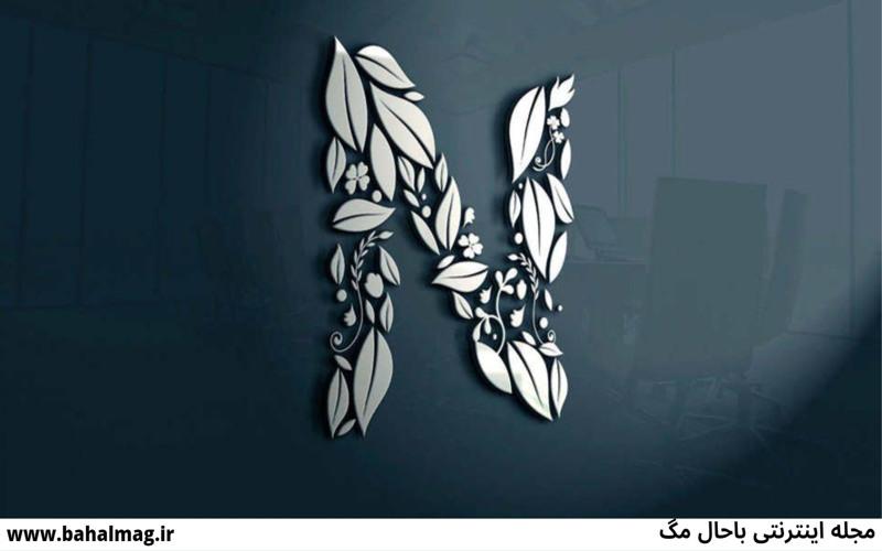 عکس پروفایل حرف N این تصاویر ویژه ی پروفایل عزیزانی هست که اسمشون با حرف N شروع میشه امیدواریم خوشتون بیاد Blue Paint Living Room Lettering Wallpaper