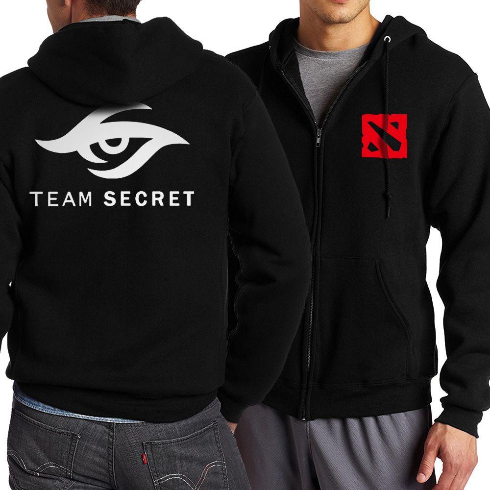 Adult Jacket Dota 2 Team Secret Zippered Hoodies Men 2017 Hot Spring Autumn  Men Sweatshirt Game 339f40516a