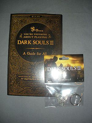 Dark Souls 3 III Collection Promotional Keychain And Launch Guide Booklet