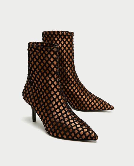 d025304a315 ZARA - COLLECTION AW 17 - HIGH HEEL MESH ANKLE BOOTS