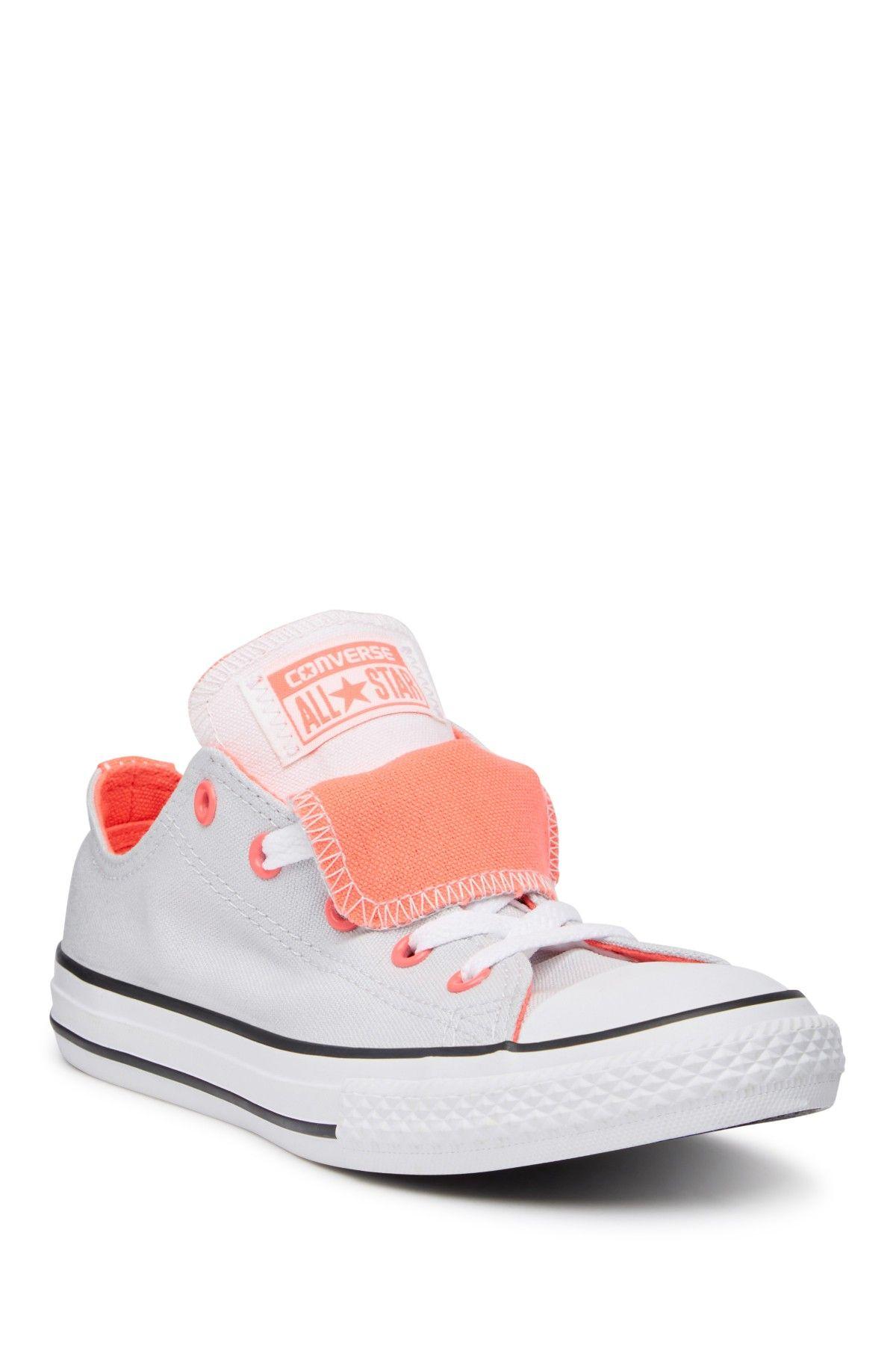 ba1e780846c9 Chuck Taylor All Star Double Tongue Oxford Sneaker (Little Kid   Big Kid)