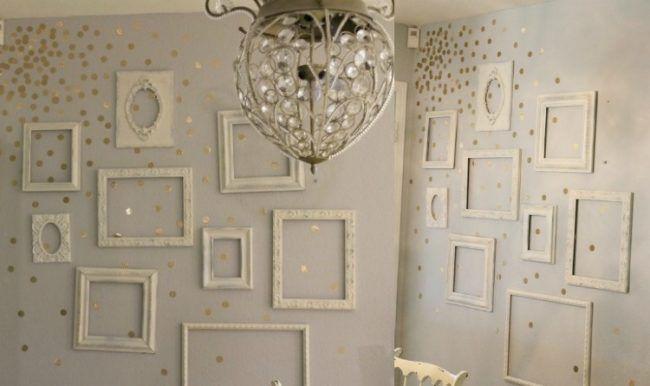 Wanddekoration selber machen anleitung  wanddeko-selber-machen-anleitung-leere-bilderrahmen-weiss | hjemme ...
