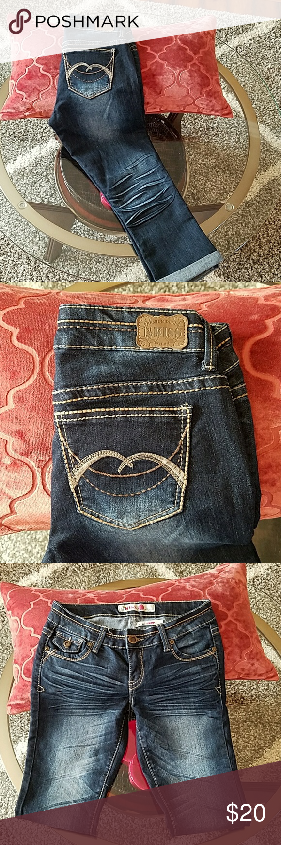 1st kiss jean shorts. Exellen condition  Jean shorts. ..size 3.... Worn once only. 1st kiss Jeans